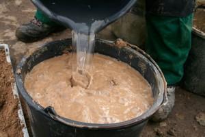 Substrat mit Wasser füllen